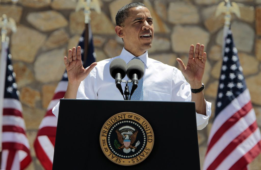 President Barack Obama speaks about the need for immigration reform at an event at the Chamizal National Memorial in El Paso on May 10, 2011.