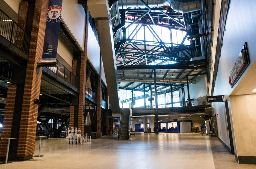 The main concourse of the Texas Rangers' new Globe Life Field on Wednesday, March 11, 2020 in Arlington. (Ashley Landis/The Dallas Morning News)