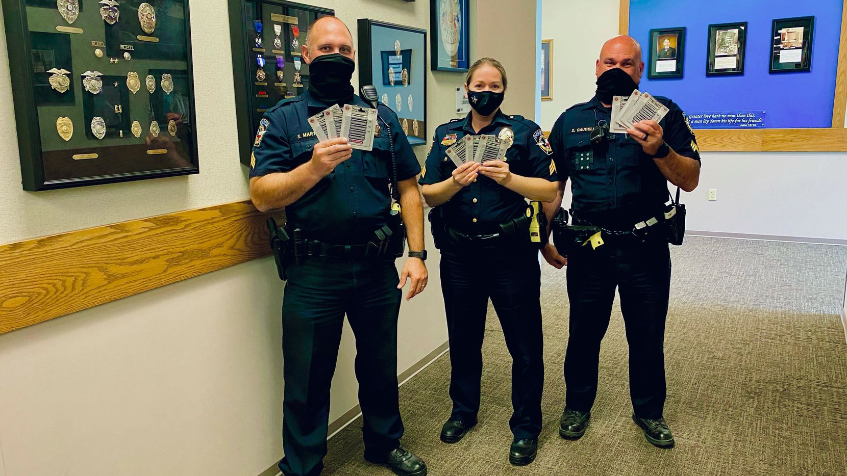 An anonymous benefactor donated more than $400 worth of Chipotle gift cards to the McKinney Police Department.