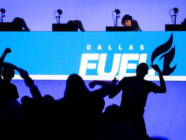 The Dallas Fuel plays against the San Francisco Shock on Feb. 9, 2020 at the Esports Stadium in Arlington. (Juan Figueroa/ The Dallas Morning News)