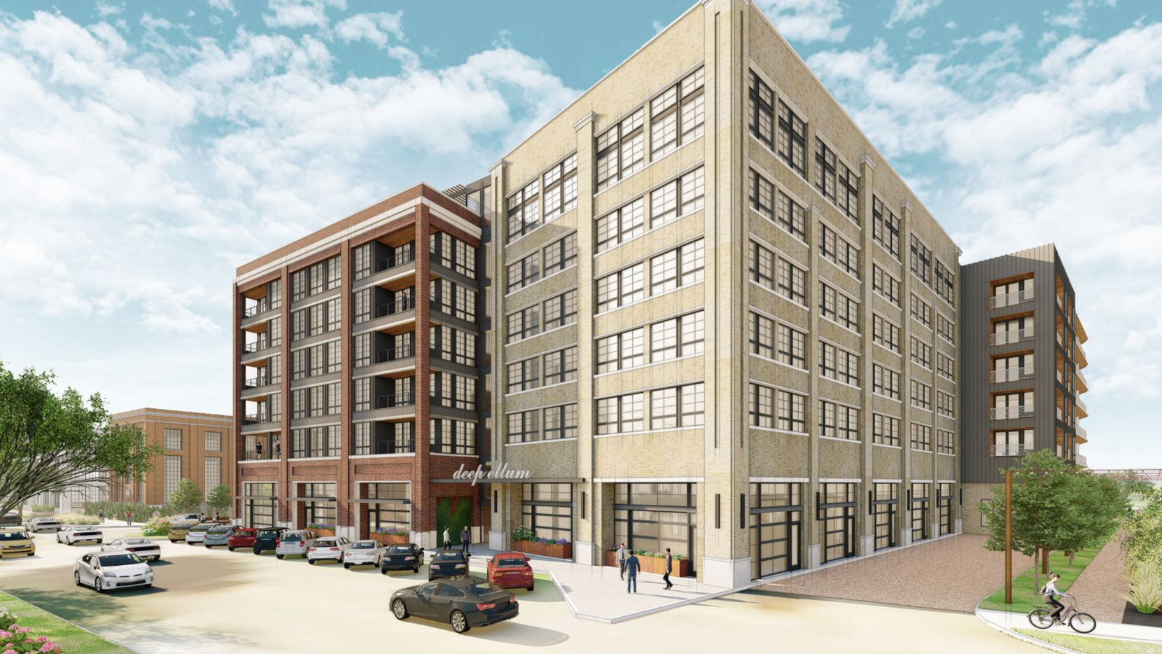 The eight-story Willow apartment building is planned on the eastern edge of Deep Ellum.