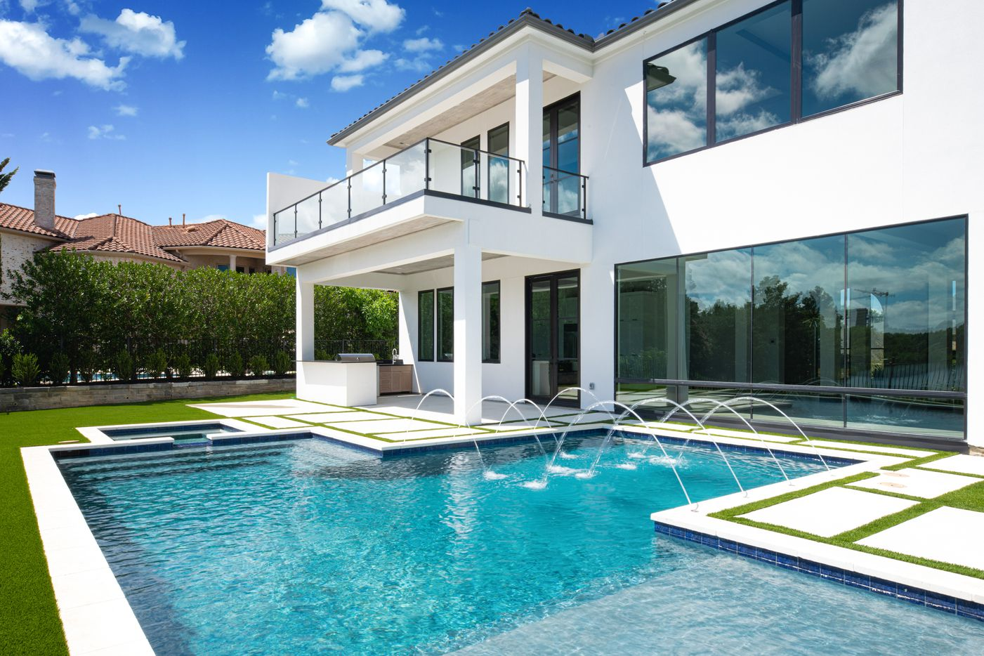 Backyard, pool and patio at 3932 Touraine Drive.
