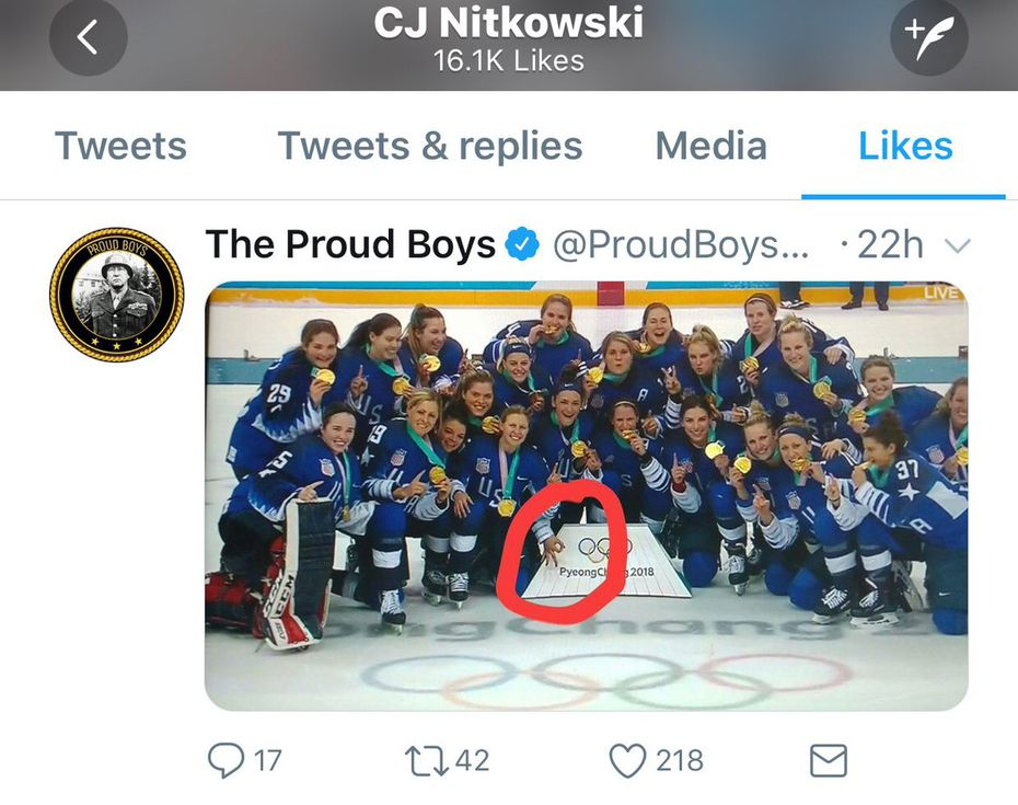 Twitter screencap of photo liked by Rangers broadcaster C.J. Nitkowski