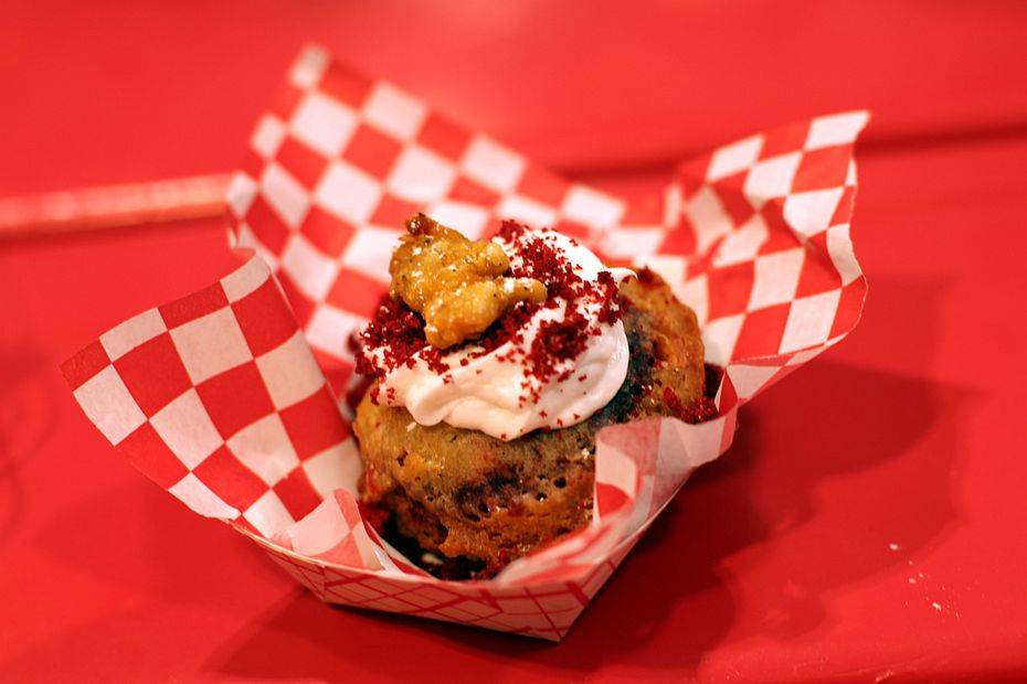 We called the fried red velvet cupcake 'an absolute must' in 2012.
