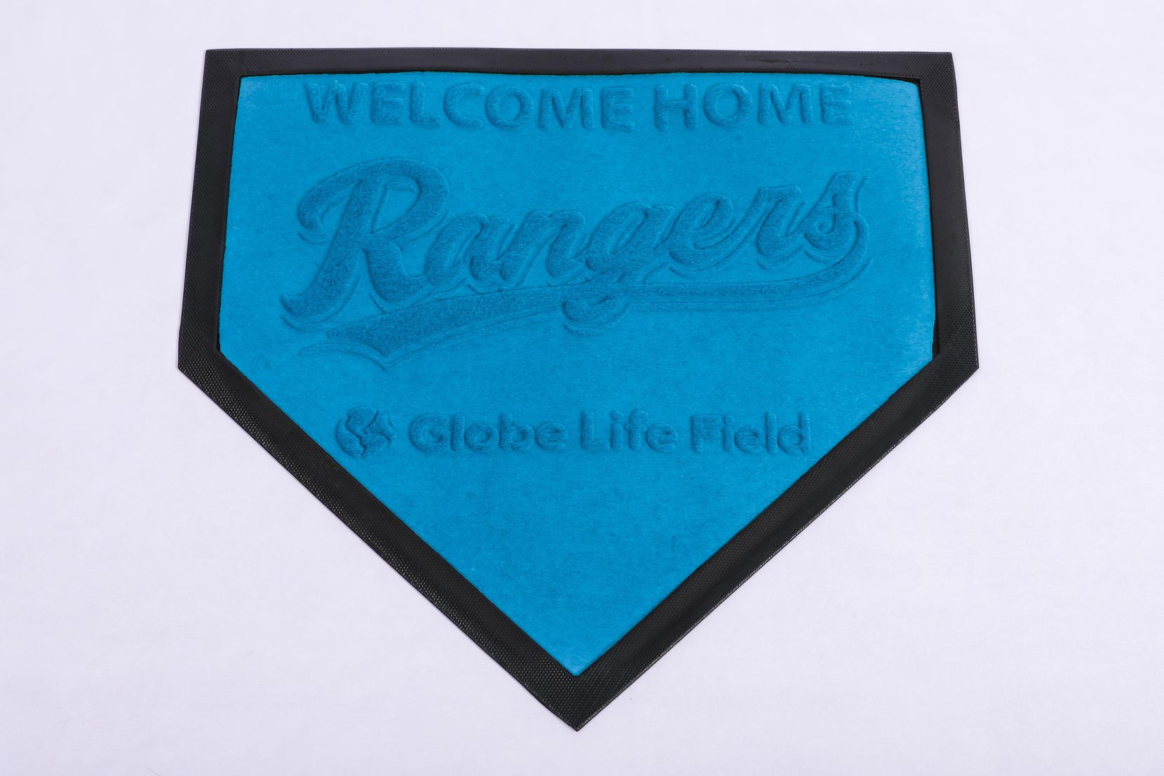 "Rangers ""Welcome Home"" mat to be handed out April 9 and June 18."