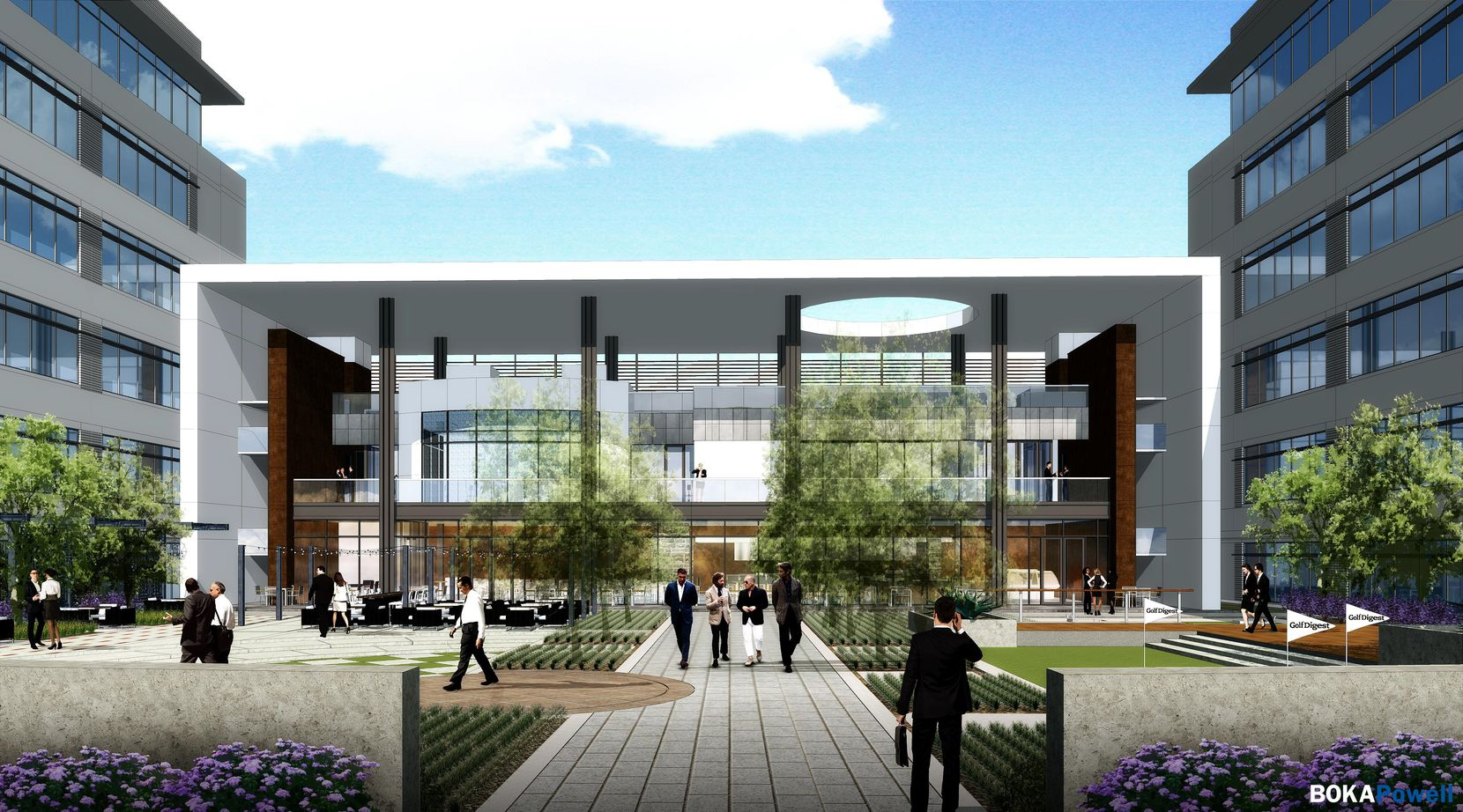 The campus will have a 3-story amenity building and courtyard.