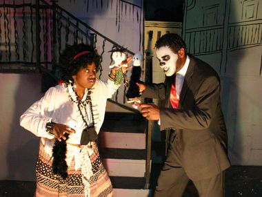"Actors perform in a scene from Pocket Sandwich Theatre's 2009 production of ""Zombie, Dearest!"" A revival of the melodrama spoof is opening the company's 40th season."