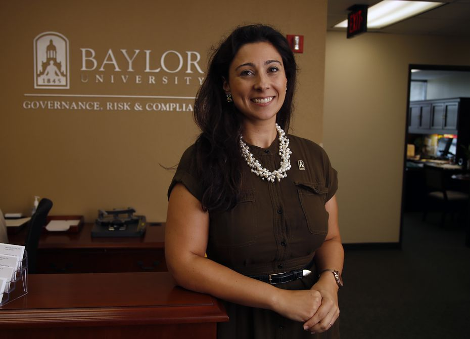 In this Aug. 1, 2015 photo, Patty Crawford, Baylor University's first full-time Title IX coordinator, poses in her office in Waco.
