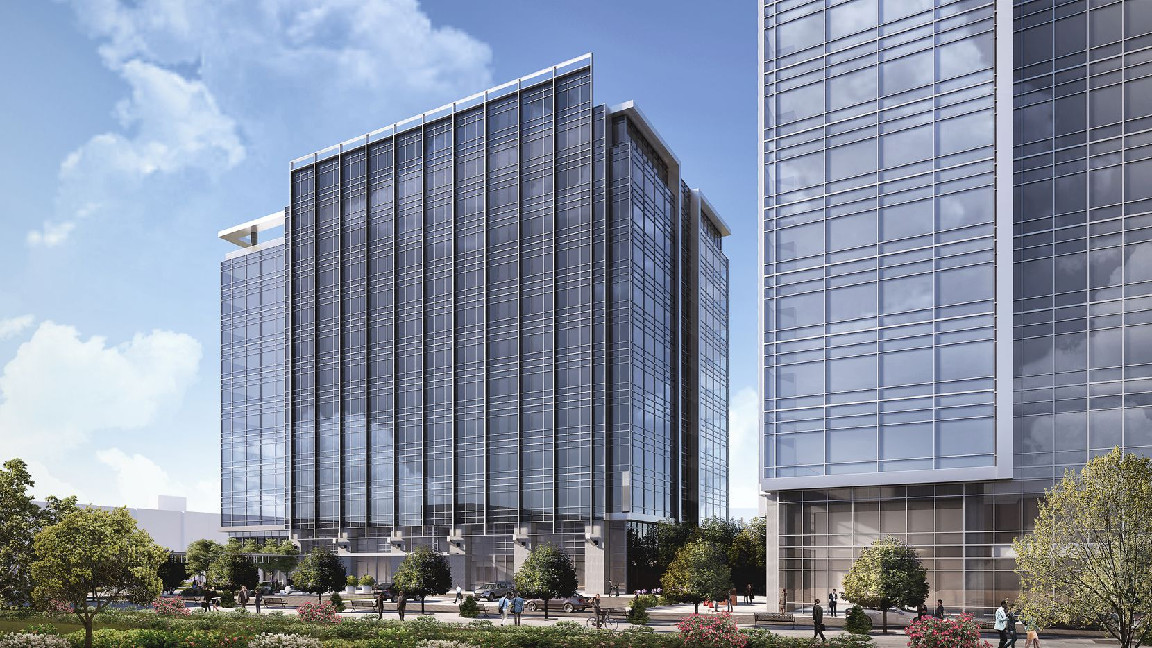 Developer Cawley Partners plans two 12-story office towers on the Dallas North Tollway in Frisco.