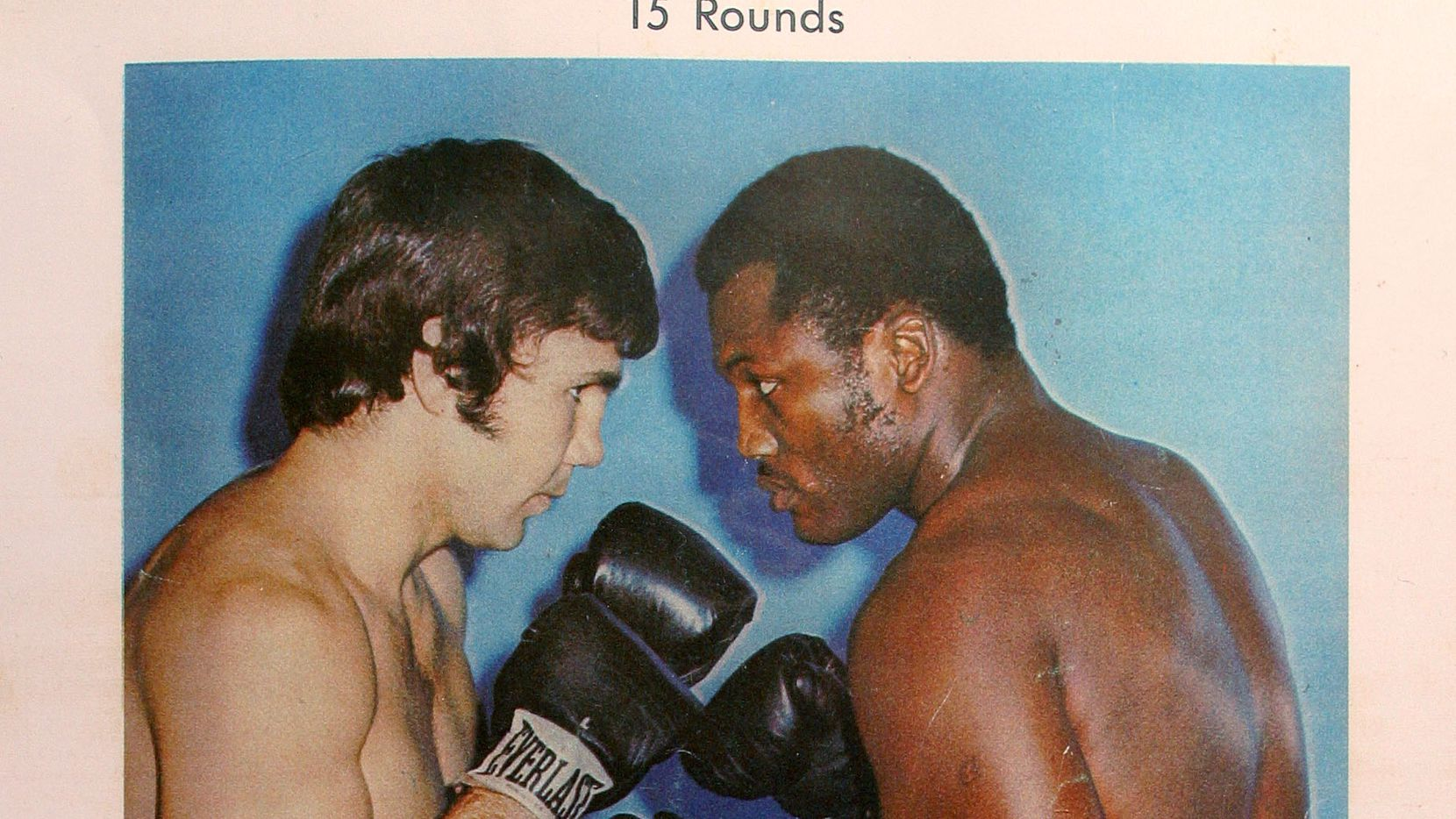 An undated archive promo photo of Terry Daniels vs Joe Frazier fight.