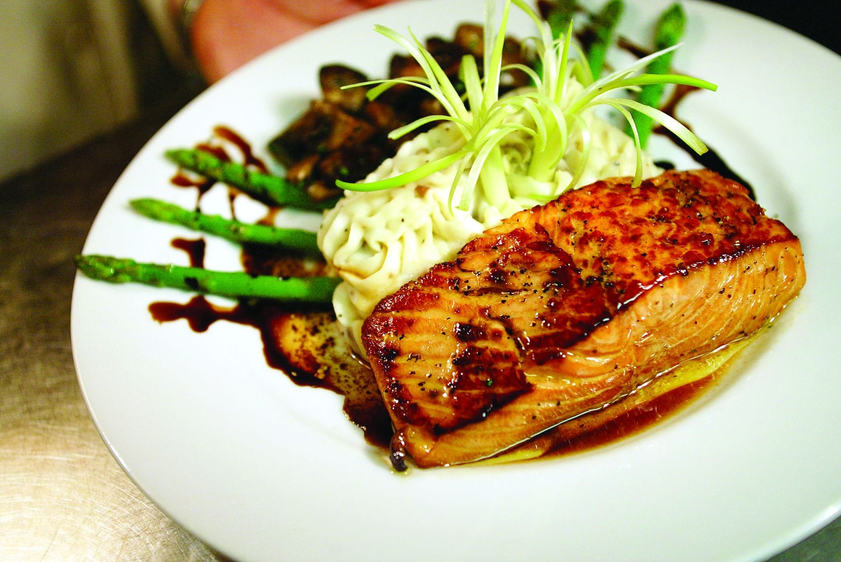 The Classic Cafe at Roanoke offers soy-glazed salmon as part of its Valentine's Day takeout offerings this year.