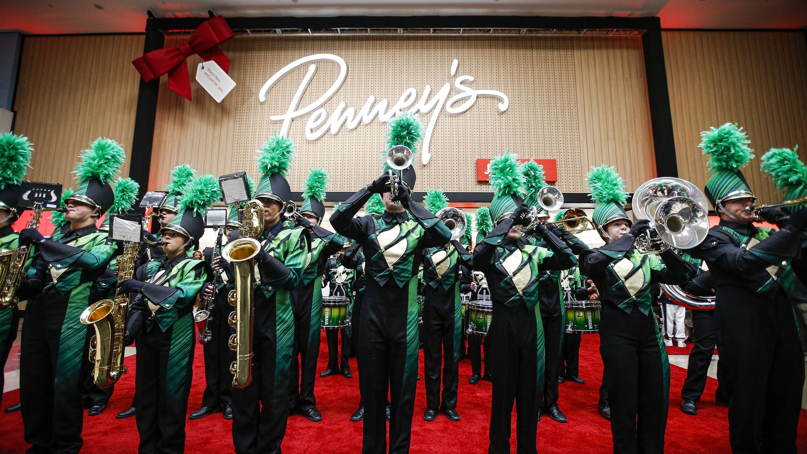 The Birdville High School Marching Band performed at the Nov. 1 grand opening of Penney's newest concept store at North East Mall in Hurst.