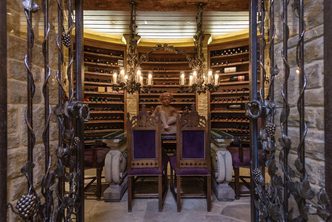 The wine cellar in the Tolleson estate
