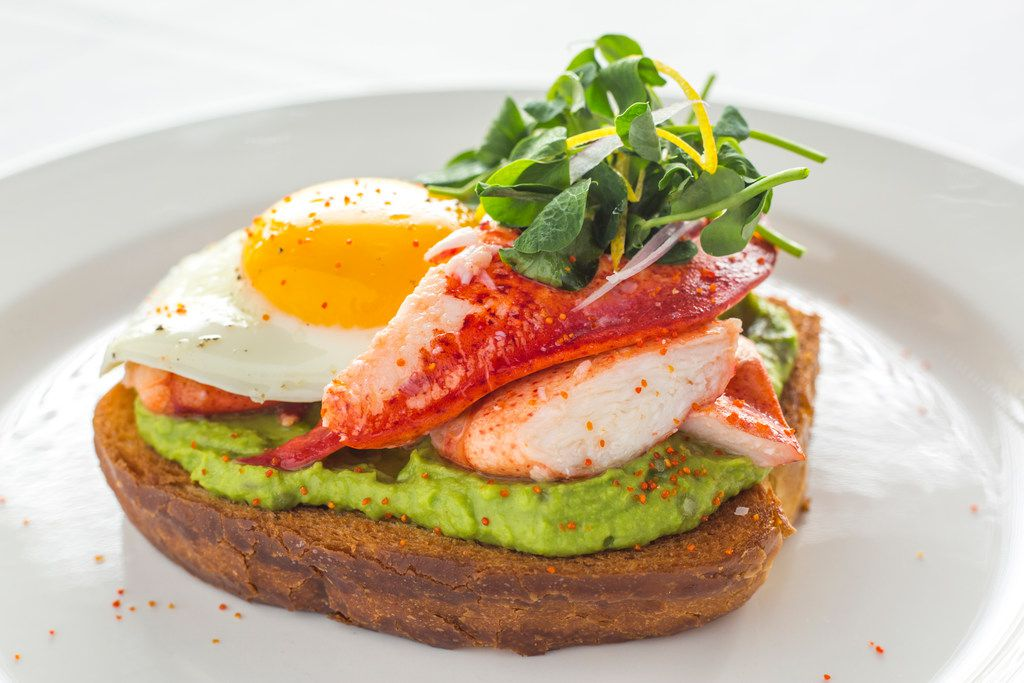 On Father's Day, Ocean Prime will offer lobster toast for $24 with sunny side egg, avocado, sweet peas and preserved lemon.