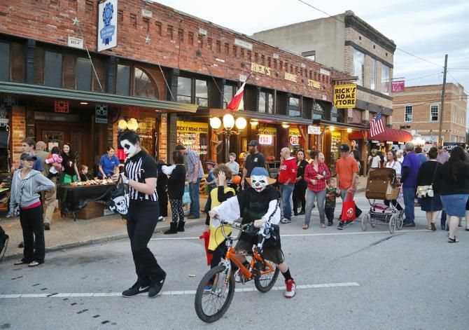 Wylie's downtown historic district draws thousands each year at special events, such as Boo on Ballard. The city proposed expanding the district to surrounding neighborhoods.