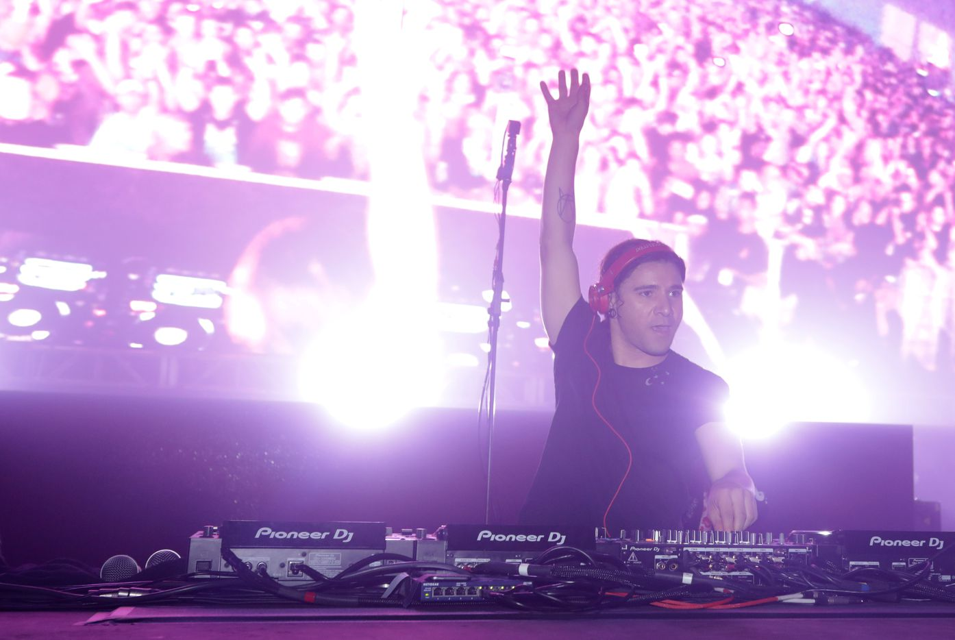 Skrillex performs during Lights All Night at Dallas Market Hall in Dallas, Texas, on Dec. 27, 2019.