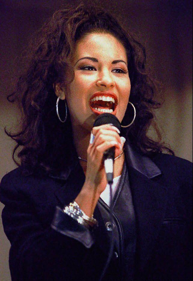 Selena Quintanilla-Perez performs in Corpus Christi, in 1994.