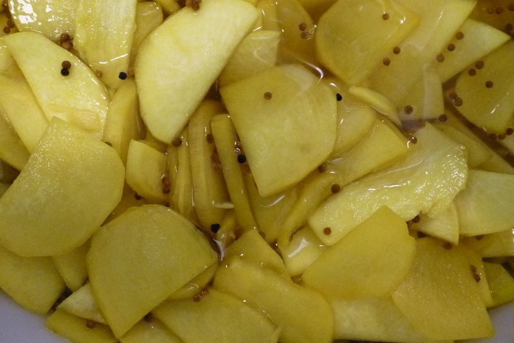 Turnips are another specialty pickled food at Pickletopia, which is near Jimmy s Food Store.