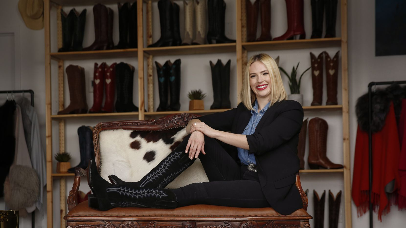 After being laid off from her oil and gas company job, Lizzy Chesnut Bentley turned her attention to creating cowboy boot options appropriate for daily wear by business professionals.