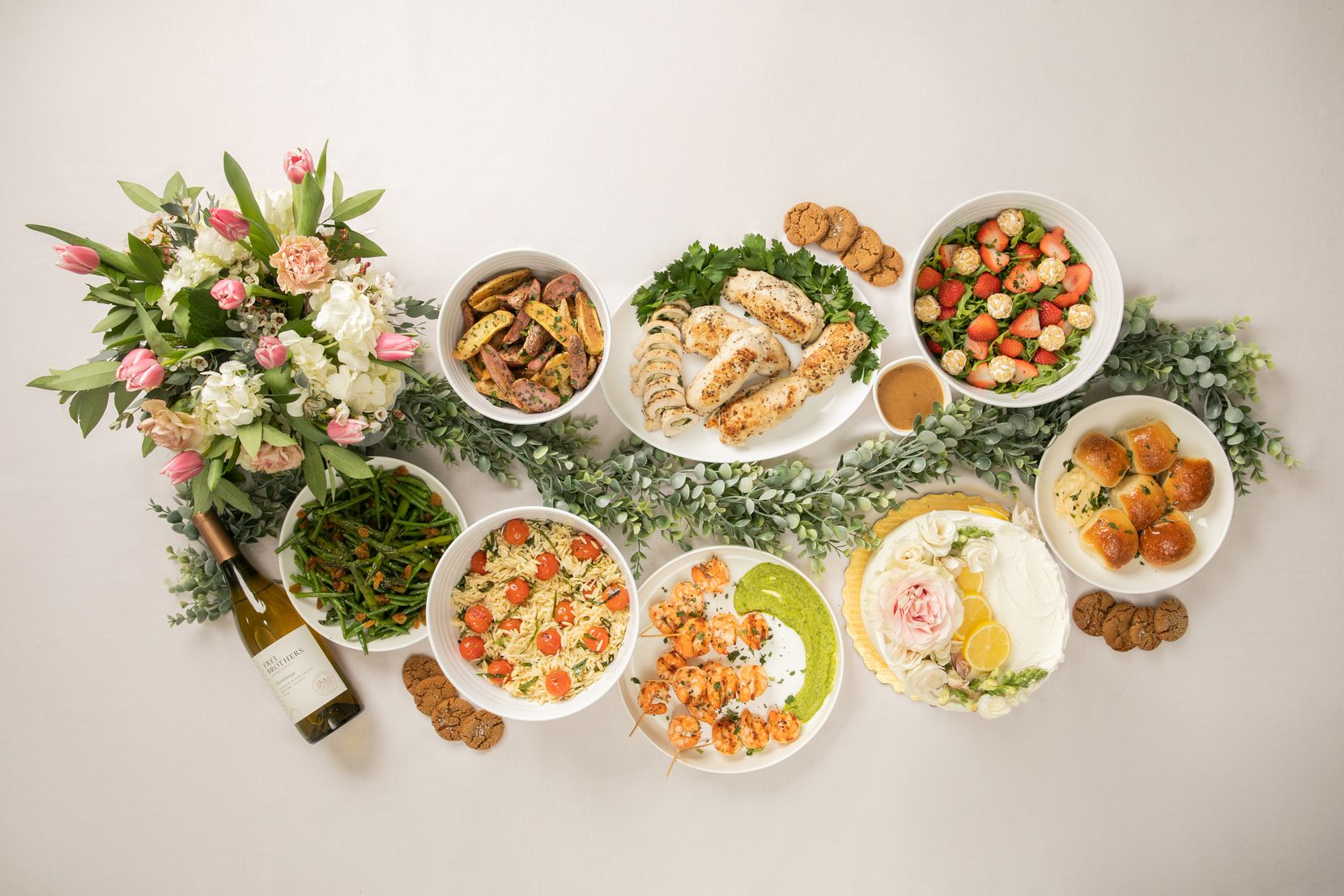 Vestals Catering serves Mother's Day menu that is ready to reheat.