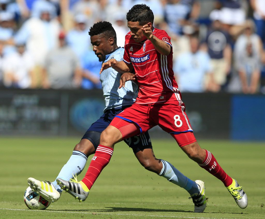 Dallas in KC in all red, but wouldn't white shorts make more sense?