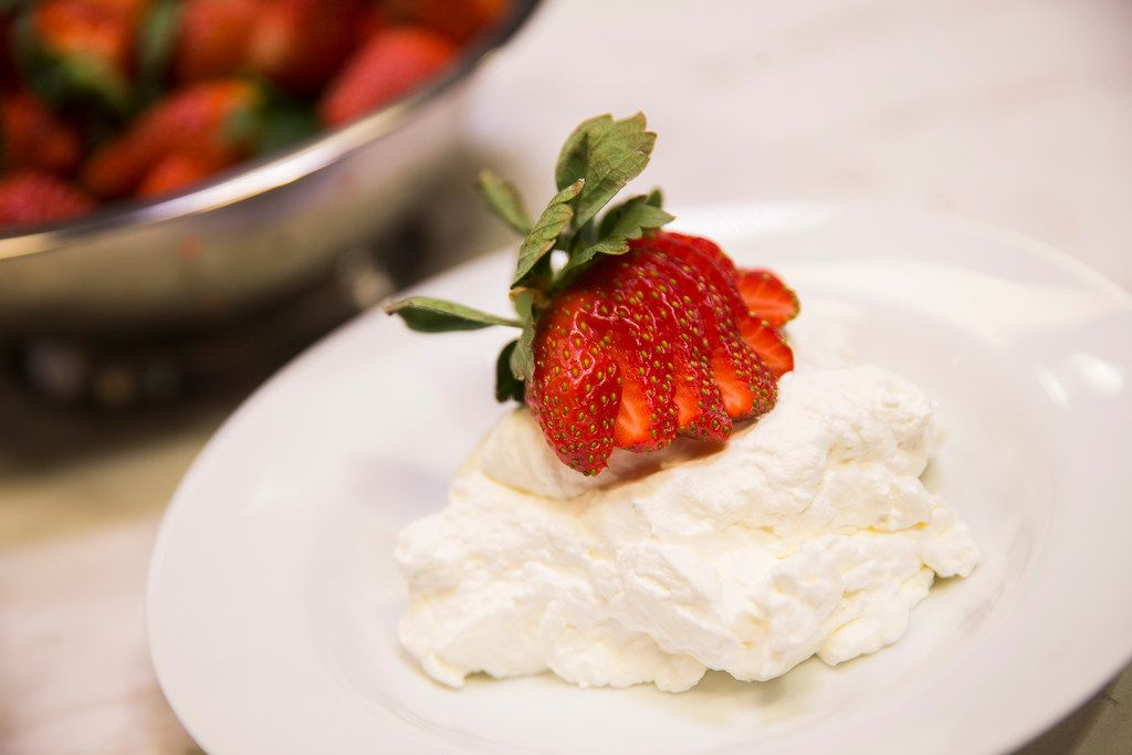 Eat your whipped cream topped with strawberries, or just by itself, we won't judge.