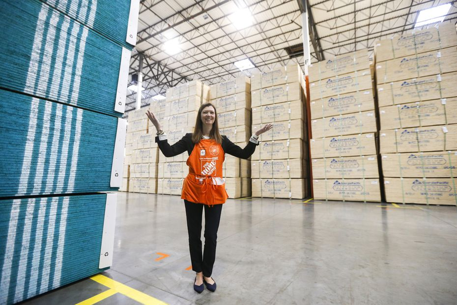 """Customer expectations are definitely rising, and pros want speed and reliable service,"" said Stephanie Smith, Home Depot's senior vice president of supply chain.  (Ryan Michalesko/The Dallas Morning News)"