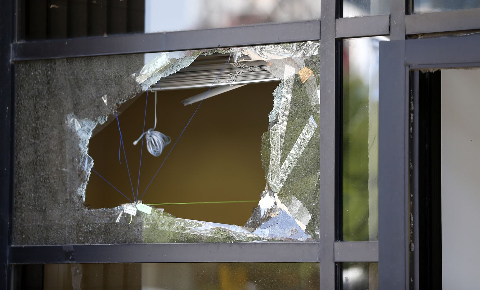 A window was shattered by gunfire at El Centro College.