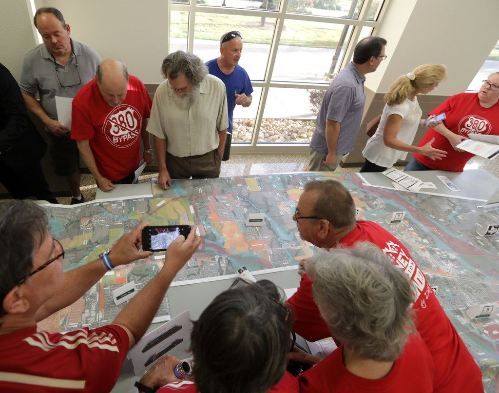 Residents and TxDOT representatives discussed plans to expand and improve U.S. Highway 380 on Oct. 4 in Frisco.