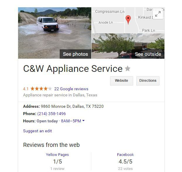 Someone changed the phone number on this Google listing of a longtime Dallas business. Instead, customers unknowingly called a leads generation business that sent out repair techs not connected to the listed business. That business cried foul — and rightly so.