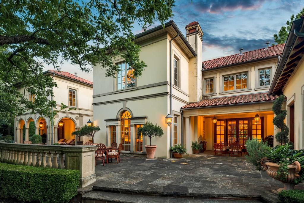 This Mediterranean-style mansion on Armstrong Parkway in Highland Park has 11,702 square feet.