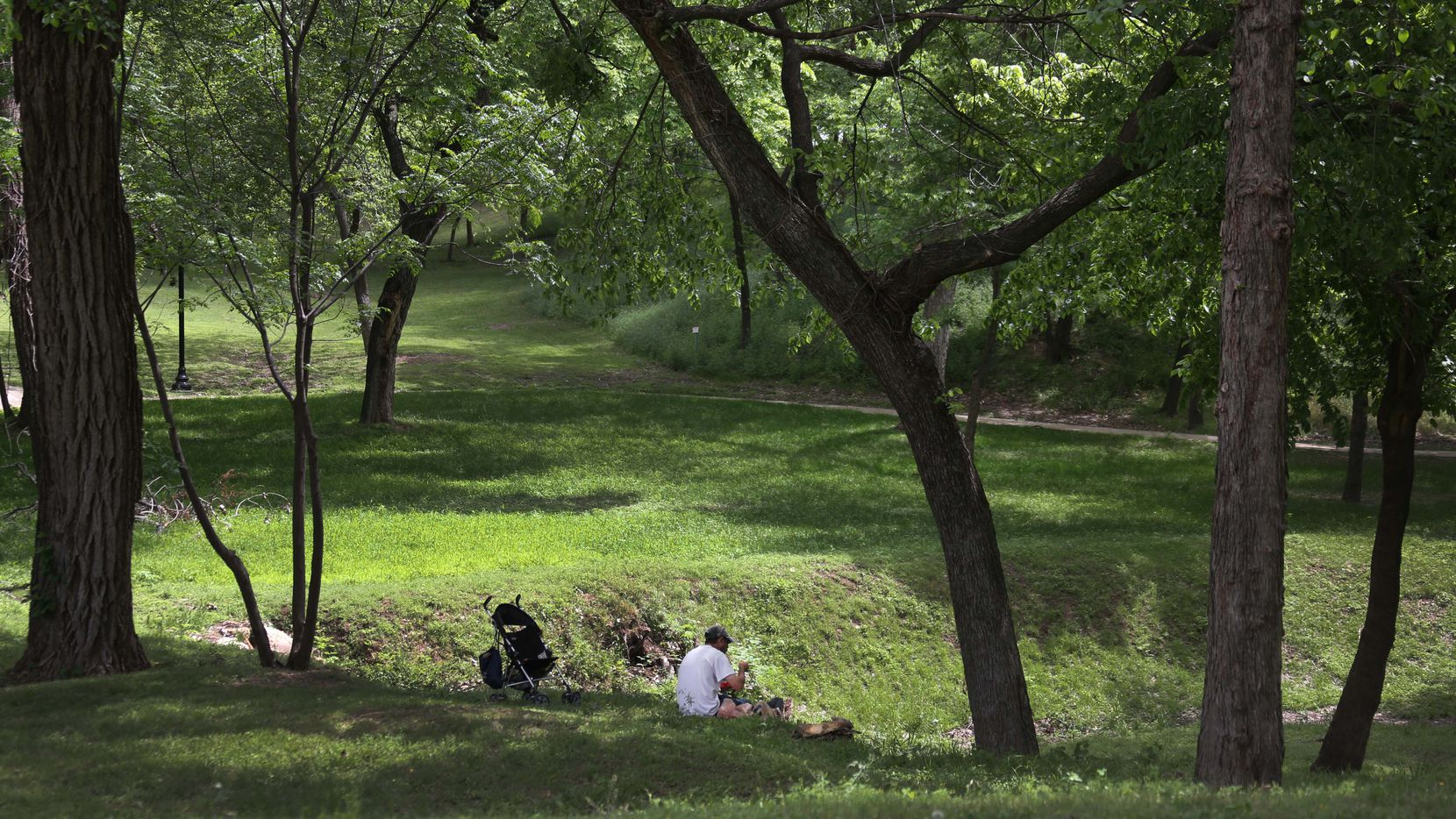 There is plenty of room for peace and quiet at the Oak Cliff Founders Park as shown in this file photo and this Saturday people are invited to come down and help plant new trees.