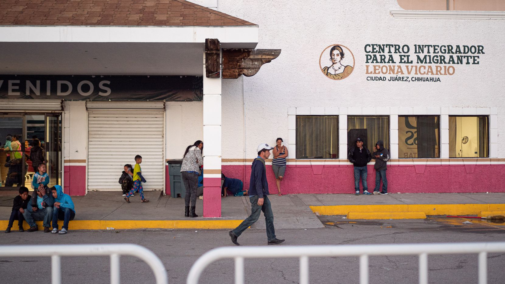 Migrants at the state run migrant shelter in Cd. Juarez, Chihuahua.