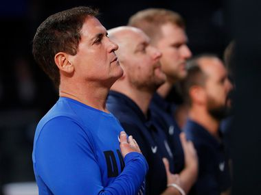 Mark Cuban said Thursday he will support Mavericks and NBA players who choose to kneel in protest during the national anthem this summer. (Photo by Kevin C. Cox/Getty Images)
