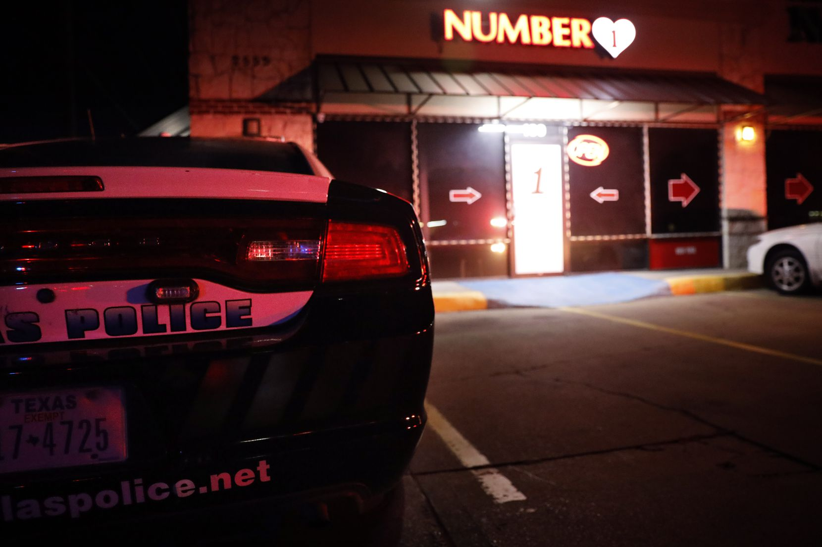 The Dallas Police vice unit raided a massage parlor named Number 1 on Walnut Hill Lane in northwest Dallas Tuesday night. It has been there for three years.