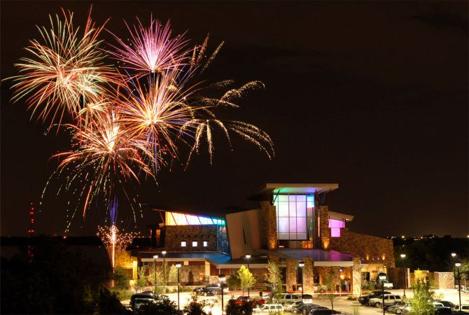 Fireworks over Grapevine Lake, seen here in a file photo, are one of the few remaining July Fourth events in D-FW after many were canceled due to COVID-19.