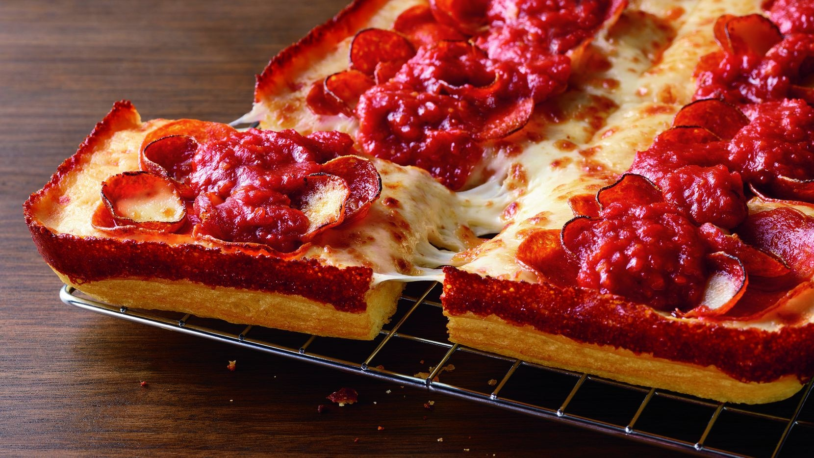 Detroit-style pizza skyrocketed in popularity across Dallas-Fort Worth in 2020. On Jan. 26, 2021, Plano-based Pizza Hut announced it is selling four Detroit-style pizzas via delivery, carryout and curbside pickup across the United States, including in the company's home state of Texas.