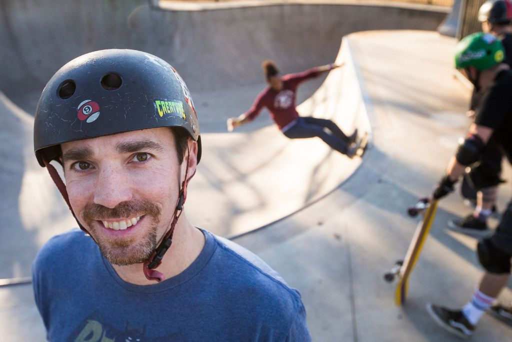 Clinton Haley poses for a portrait at Lively Pointe Skate Park on Sunday, Jan. 22, 2017, in Irving. (Smiley N. Pool/The Dallas Morning News)