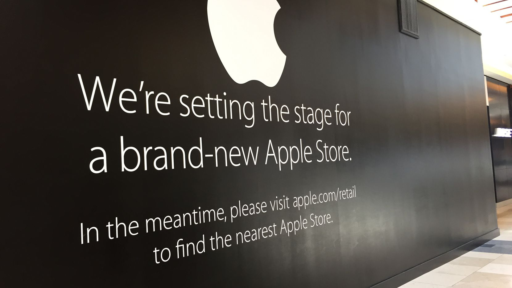 The Apple Store in Plano's Shops at Willow Bend has been closed since April for renovations. It will be the first Apple store in