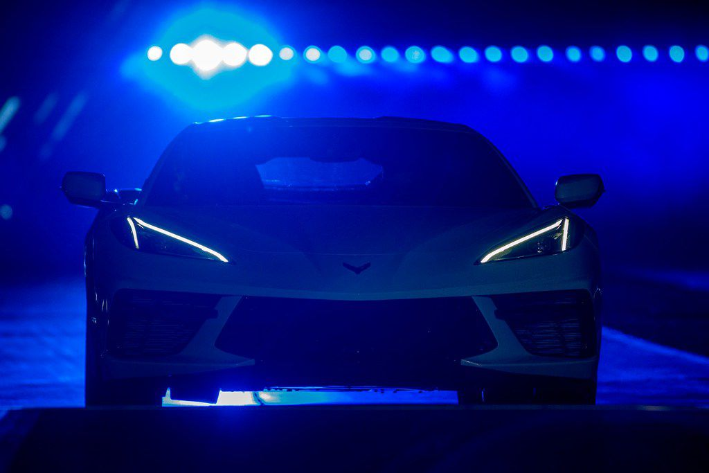 The new mid-engine 2020 Corvette Stingray is seen at the Next Generation Corvette Reveal event in Irvine, California on July 18, 2019. (Photo by DAVID MCNEW / AFP)DAVID MCNEW/AFP/Getty Images