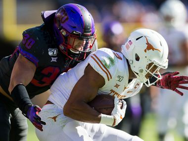 TCU linebacker Garret Wallow led the Big 12 with 125 tackles in 2019. (Ashley Landis/The Dallas Morning News)