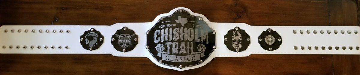 The Chisholm Trail Clásico belt.