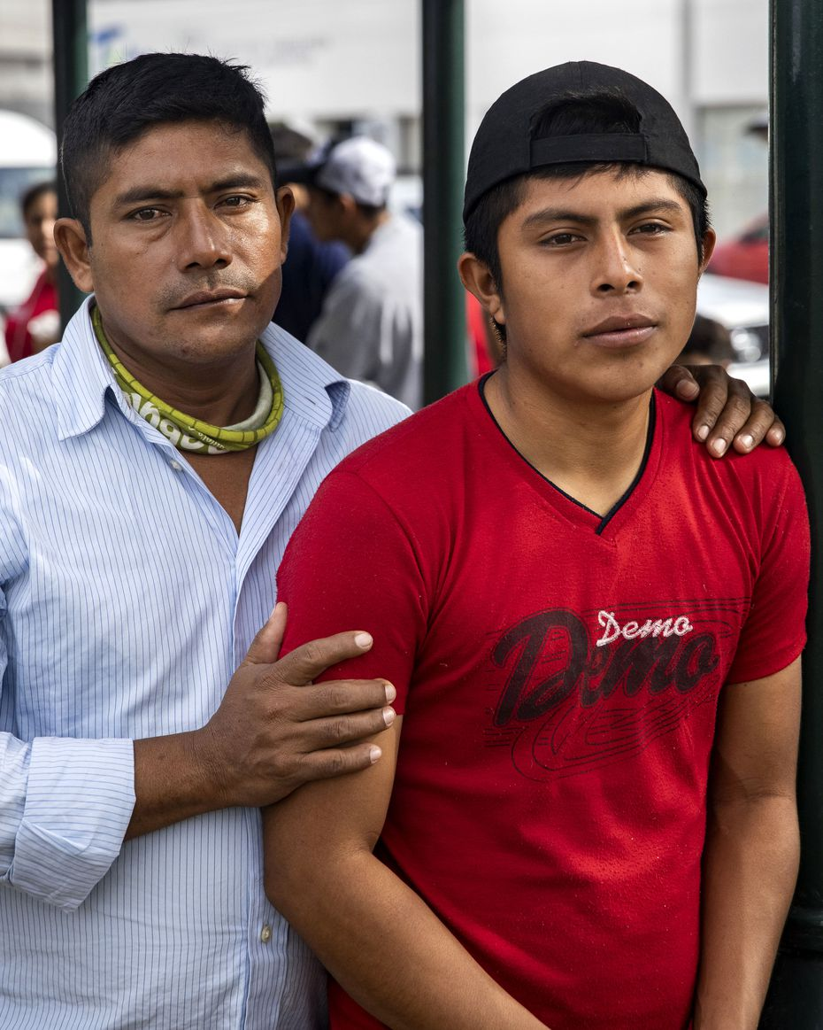 Guatemalan migrant Hermelindo Ak and his 17-year-old son, Sergio, currently live at a gazebo in a public square in the Mexican border city of Reynosa.