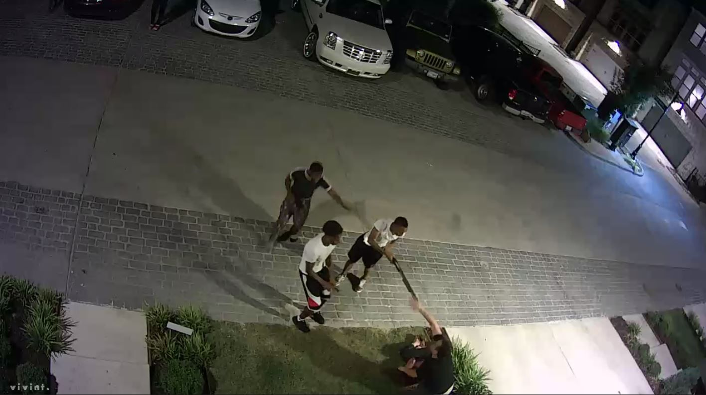 Surveillance video shows three young teens confronting a couple at gunpoint early July 22 in north Oak Cliff. The Dallas County district attorney's office plans to transfer those three and three other juveniles to adult court for prosecution. (Facebook)