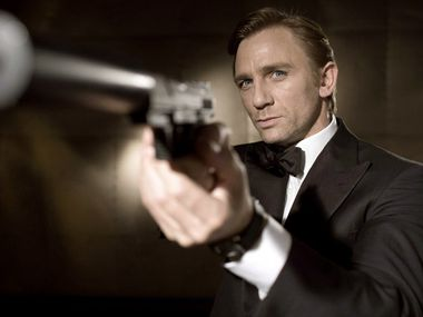 "Daniel Craig poses as secret agent James Bond in the adventure film ""Casino Royale"""