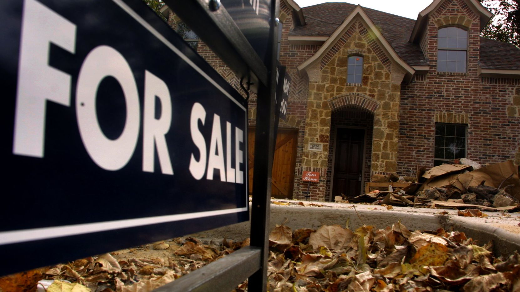 The number of houses listed for sale with real estate agents in Dallas County surged by more than 43 percent in January.