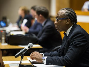 Commissioner John Wiley Price, seen at a meeting March 19, 2020 in Dallas, is seeking re-election to a post he has held since 1985.