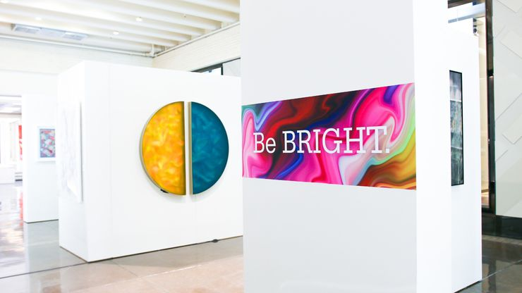 """In the DCAC art exhibit """"Be Bold. Be Bright. Be Brave.,""""  currently on display at NorthPark Center between Dillard's and Neiman Marcus, the works of 20 local, regional and national artists delve into the issue of child abuse and its consequences."""