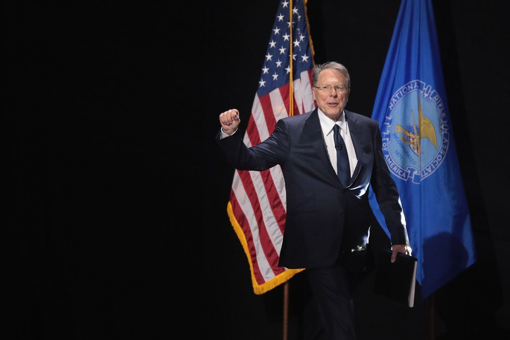 Wayne LaPierre,  executive vice president and CEO of the NRA, spoke at the Leadership Forum at the 146th NRA annual meeting in Atlanta on April 28, 2017.