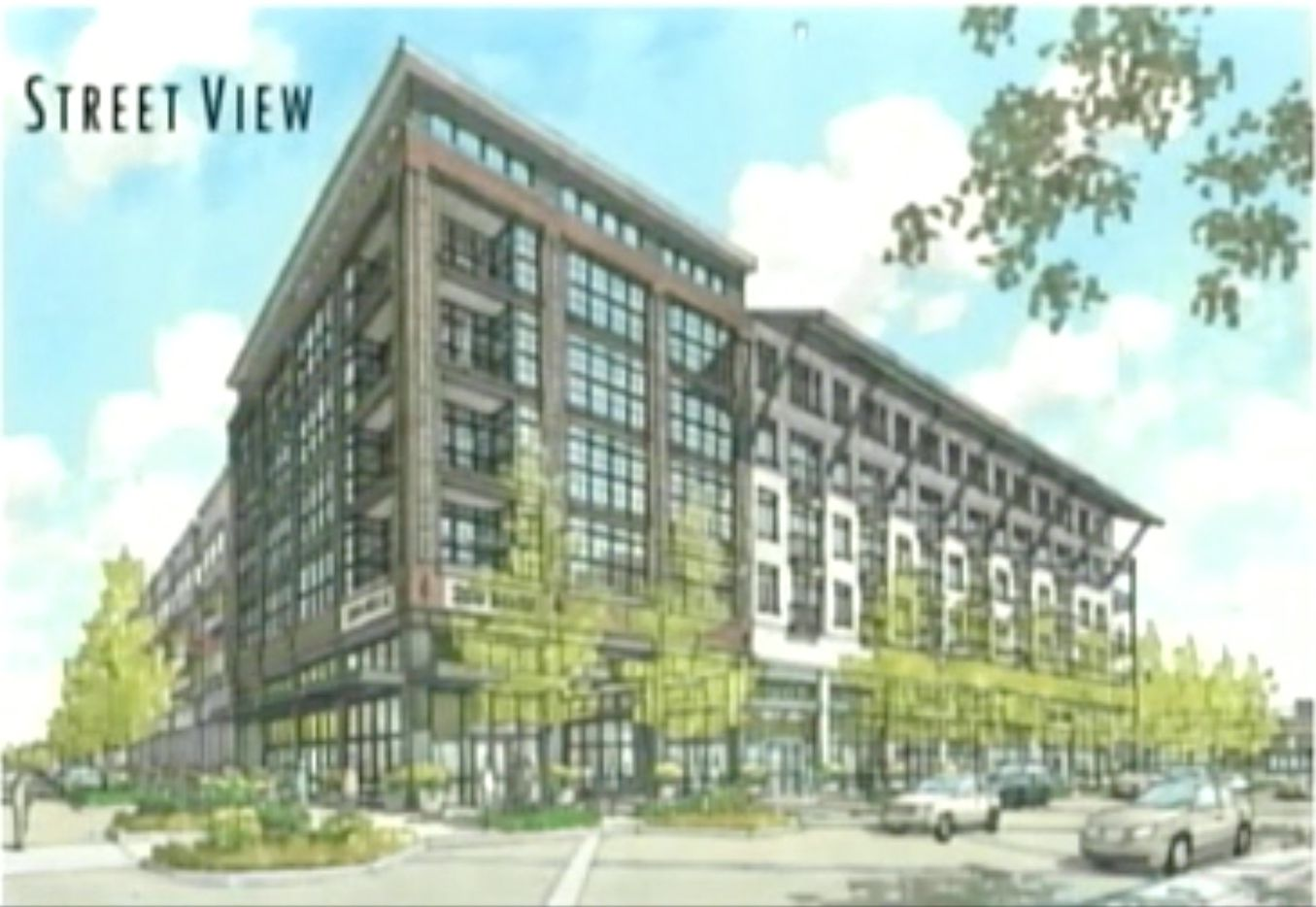 The planned Town Central project includes retail, apartments and townhomes.